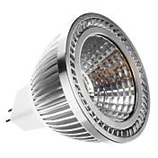 6W GU5.3(MR16) LED 스팟 조명 MR16 1 COB 400 lm 따뜻한 화이트 DC 12 / AC 12 V
