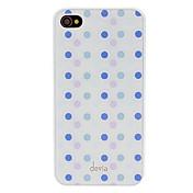 iPhone 4/4S를위한 편차 간결한 보라색과 파란색 둥근 점 패턴 매끄러운 표면 PC 단단한 상자