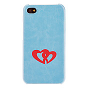 인테리어 심혼 본 PC 단단한 상자 솔리드 컬러의 심장 Protectionfor 아이폰 4/4S (선택적인 색깔)를 무리를 짓기