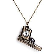 여자의 정연한 합금 석영 아날로그 목걸이 시계