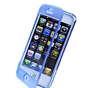 iPhone 4/4S를위한 터치 스크린 TPU 투명한 몸 전체 케이스 (분류 된 색깔)
