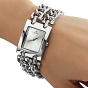 아가씨들 패션 시계 팔찌 시계 석영 스테인레스 스틸 밴드 실버