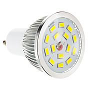 5W GU10 LED 스팟 조명 15 SMD 5730 100-550 lm 따뜻한 화이트 밝기 조절 AC 220-240 V