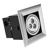 Luces Empotradas Descendentes 3W 3 LED de Alta Potencia 300 LM Blanco Fresco AC 85-265 V