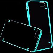 maylilandtm 형광 효과 아이폰 5 / 5 초 (모듬 된 색상)에 대한 투명 백 케이스를 조명 한 후