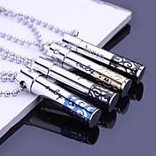 60cm 체인과 펜던트 목걸이 새겨진 개인 선물 중공 스테인레스 스틸 쥬얼리