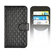 용 삼성 갤럭시 케이스 지갑 / 카드 홀더 / 스탠드 / 플립 / 패턴 케이스 풀 바디 케이스 기하학 패턴 인조 가죽 Samsung S5