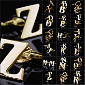 빈티지 남성 A-Z 구리 금 커프스 단추 (1pair를)