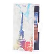 Eiffel Caso de cuero de toallas con ranura para tarjeta y el soporte para LG L5/E610/E612