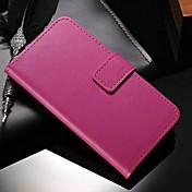 Para Funda Samsung Galaxy Cartera / Soporte de Coche / con Soporte / Flip Funda Cuerpo Entero Funda Un Color Cuero Sintético Samsung S5