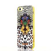 Para Funda iPhone 5 Antigolpes / Diseños Funda Cubierta Trasera Funda Estampado Leopardo Suave TPU iPhone SE/5s/5