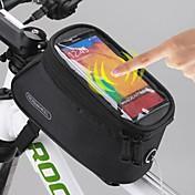 ROSWHEEL 자전거 가방 1.5L휴대 전화 가방 자전거 프레임 백 자전거 새들 백 방수 방수 지퍼 터치 스크린 싸이클 가방 폴리에스터 PVC 싸이클 백Samsung Galaxy S4 Samsung Galaxy S6 Samsung Galaxy