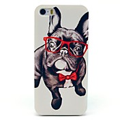 Para Funda iPhone 5 Carcasa Funda Diseños Cubierta Trasera Funda Perro Dura Policarbonato paraiPhone 7 Plus iPhone 7 iPhone SE/5s iPhone