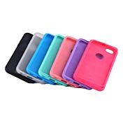 용 아이폰6케이스 / 아이폰6플러스 케이스 충격방지 케이스 뒷면 커버 케이스 단색 소프트 TPU iPhone 6s Plus/6 Plus / iPhone 6s/6