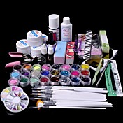 61pcs uv brillo gel limpiador de uñas imprimación conjunto kit de arte