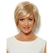 금 합성 직선 매력적인 여성의 짧은 가발