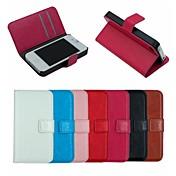 미친 말 가죽 지갑 전신 경우 플립 가죽 아이폰 4 / 4S를위한 카드 홀더와 커버 스탠드