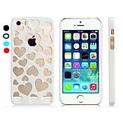 용 아이폰5케이스 투명 케이스 뒷면 커버 케이스 심장 하드 PC iPhone SE/5s/5