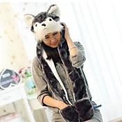 Kigurumi 파자마 강아지 모자 페스티발/홀리데이 동물 잠옷 할로윈 프린트 인조 모피 모자 에 대한 남여 공용 할로윈 카니발