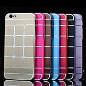 용 아이폰6케이스 / 아이폰6플러스 케이스 도금 케이스 뒷면 커버 케이스 기하학 패턴 하드 알루미늄 iPhone 6s Plus/6 Plus / iPhone 6s/6