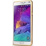 용 Samsung Galaxy Note 충격방지 케이스 범퍼 케이스 단색 알루미늄 Samsung Note 4