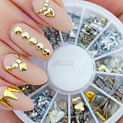 240pcs 네일 아트 황금 혼합 리벳 아크릴 모조 다이아몬드 모양