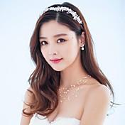Mujer Diamantes Sintéticos Cristal Aleación Perla Artificial Celada-Boda Ocasión especial Al Aire Libre Bandas de cabeza Coronas