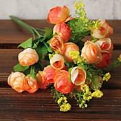 플라스틱 / 와이어 Camellia 인공 꽃