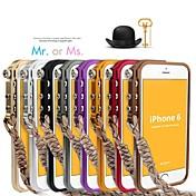 아이폰 6 (모듬 된 색상)에 대한 기계적인 벽 나눠 금속 범퍼 케이스