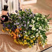 Rama Seda Plástico Ranúnculo Flor de Mesa Flores Artificiales