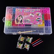 bandas baoguang®loom bandas de color aleatorio set (4200pcs gomas, clips 4 paquetes s, 1looms, 3 gancho + 1Box)