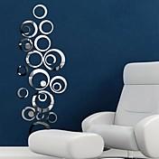 미로스 벽 스티커 거울 벽스티커 데코레이티브 월 스티커,비닐 자료 이동가능 홈 장식 벽 데칼