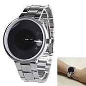 Hombre Reloj de Vestir Cuarzo Cuarzo Japonés Acero Inoxidable Banda Plata Blanco Negro