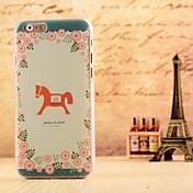 작은 말 패턴은 아이폰 6에 대한 하드 케이스 커버를 dermatoglyph