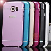 d grande pegatinas de aleación de aluminio con el caso trasero para g9200 Samsung Galaxy s6