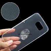 삼성 갤럭시 S6 가장자리 호환 투명한 맑은 뒤 표지