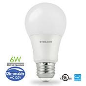 E26 LED 글로브 전구 A60(A19) 14 SMD 2835 500 lm 따뜻한 화이트 / 차가운 화이트 / 내추럴 화이트 밝기 조절 AC 110-130 V 1개