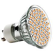 3w gu10 led 스포트 라이트 mr16 60 smd 3528 240 lm 따뜻한 흰색 ac 220-240 v