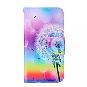 용 삼성 갤럭시 케이스 카드 홀더 / 스탠드 / 플립 / 패턴 / 마그네틱 케이스 풀 바디 케이스 민들레 인조 가죽 Samsung A3