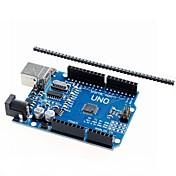 UNO R3 마이크로 컨트롤러 개발 보드는 아두 이노를위한 atmega328p 강화