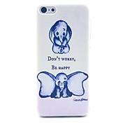 아이폰 5C에 대한 큰 귀 코끼리 패턴 PC 소재 휴대 전화 케이스