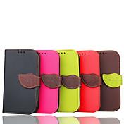 용 삼성 갤럭시 케이스 카드 홀더 / 지갑 / 스탠드 / 플립 케이스 풀 바디 케이스 단색 인조 가죽 Samsung S3