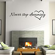 벽 스티커 벽 데칼 스타일의 영어 단어를 꿈꾸는 중지 nerer&PVC 벽에 스티커를 인용