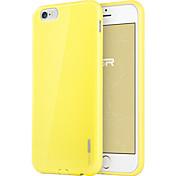 용 아이폰6케이스 / 아이폰6플러스 케이스 울트라 씬 케이스 뒷면 커버 케이스 단색 소프트 TPU iPhone 6s Plus/6 Plus / iPhone 6s/6