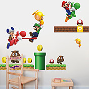 Wall Stickers Wall Decals Style Mario PVC Wall Stickers