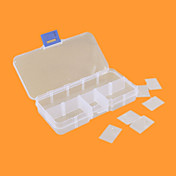 10 격자 상자 플라스틱 상자 상자 상자 하나의 나사 전자 구성 부품은 보석 상자를 상자