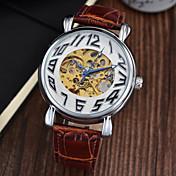남성 손목 시계 기계식 시계 크로노그래프 방수 오토메틱 셀프-윈딩 가죽 밴드 럭셔리 블랙 브라운