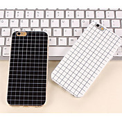 The Simple Black and White Color Matt Small Lattice TPU Cases for iPhone 7 7 Plus 6s 6 Plus
