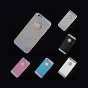 아이폰 6 (모듬 색상) + 전화 홀더 선물 2015 핫 라인 스톤이 반짝 로고 창 케이스