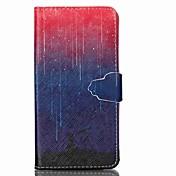 Para Funda Samsung Galaxy Soporte de Coche / Cartera / con Soporte / Flip Funda Cuerpo Entero Funda Gradiente de Color Cuero Sintético